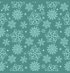 pastel green winter seamless christmas pattern vector image