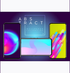 Phone abstract futuristic wallpaper collection vector