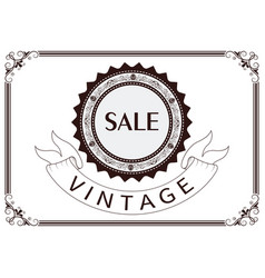 price tag with vintage frame vector image