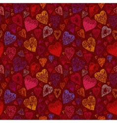 Romantic seamless pattern with vintage cartoon vector image