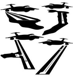 Runways in Australia vector