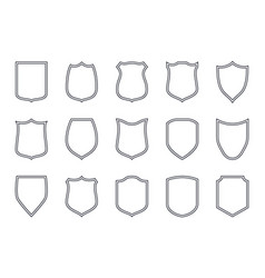 shield outline labels police simple emblem vector image