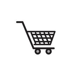 shopping cart icon design template vector image
