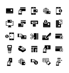 simple icon set pay items in flat style symbols vector image