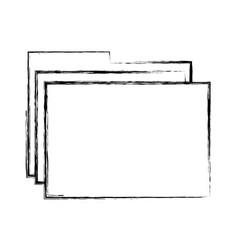 sketch draw folder cartoon vector image