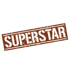 Superstar square grunge stamp vector