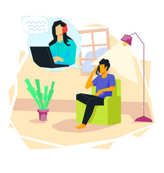 talking to call center concept vector image