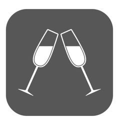 The clink glasses icon Wineglass and goblet vector image