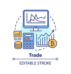 Trade concept icon investing and stock market vector