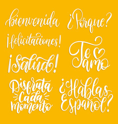 Translated from spanish handwritten phrases vector