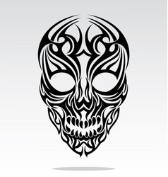 Tribal Skulls Tattoo Design vector image
