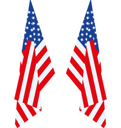 us flag hang vector image