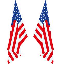 Us flag hang vector