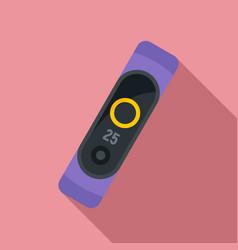wearable smart bracelet icon flat style vector image