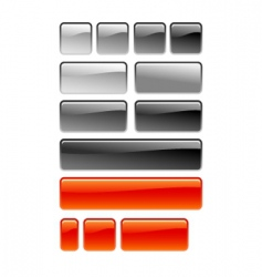 web square button vector image
