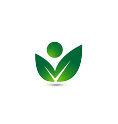 wellness people logo design template vector image