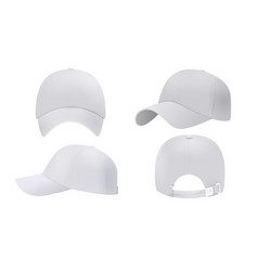 White cap mockup realistic style vector