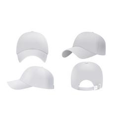 White cap mockup realistic style vector