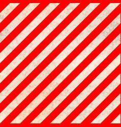 Worn warning sign white and red stripes with vector
