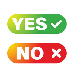 yes no button set vector image