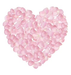 petal heart vector image vector image
