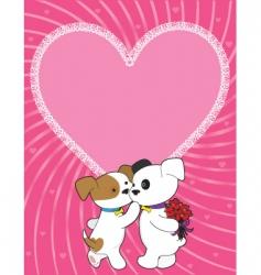 puppy valentine vector image