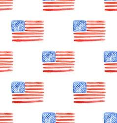 Sketch american flag in vintage style vector image vector image