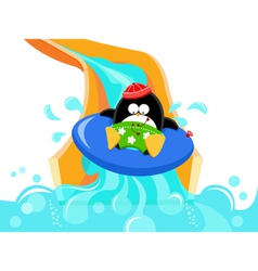 Water Slide Penguin vector image vector image