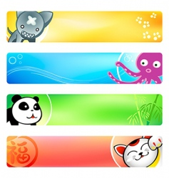 anime banners vector image