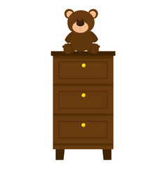 bear teddy on case icon vector image vector image