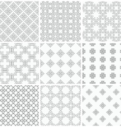 Black and white patterns vector image