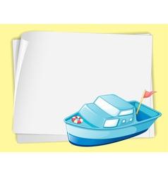 Cartoon Paper Space Boat vector image vector image
