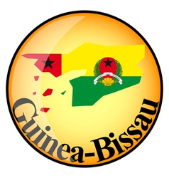button Guinea Bissau vector image vector image
