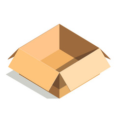 carton paper box or cardboard 3d post package vector image vector image