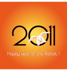 happy year of the rabbit vector image