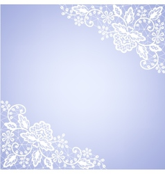 lace fabric white frame vector image vector image