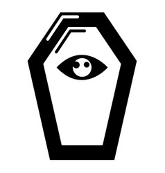 pharaoh coffin icon simple black style vector image