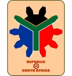 south african republic flag vector image vector image