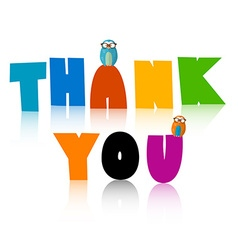 Thank You Title Thank You Colorful Letters Thank vector image