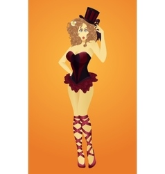 The girl from the circus vector image