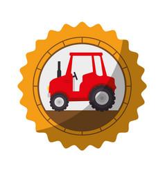 farm tractor icon vector image