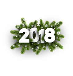 2018 card with spruce branches vector image