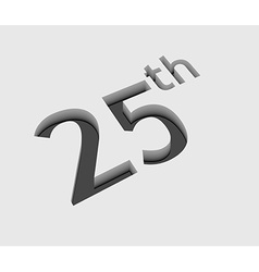 25th number design vector