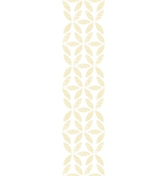 Abstract textile beige leaves vertical seamless vector image vector image