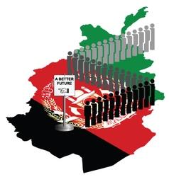 Afghanistan Migration vector