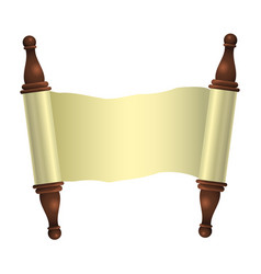 an empty scroll is an uncovered scroll isolated vector image