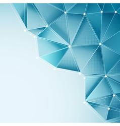 Aqua abstract triangles vector