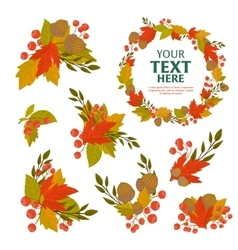 Autumn object background vector image