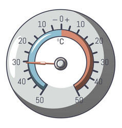 Barometer icon cartoon style vector