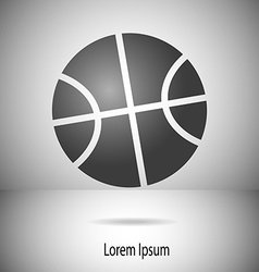 Basketball ball motif on divided background in vector